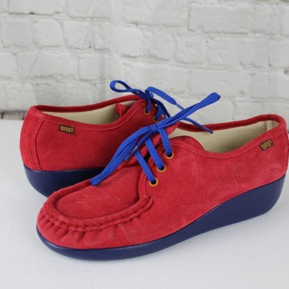 e1e2402697 SAS Shoes | Comfort Walking Moccasin Red Gladiola Bounce | Poshmark